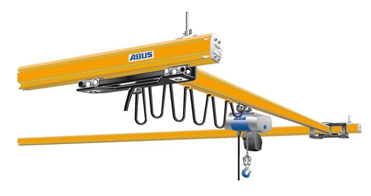 ABUS EHB-X stooled up single girder crane