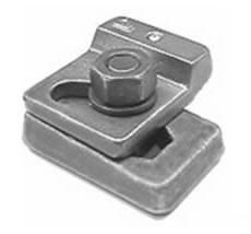 Weldable & Interlocking Crane Rail Clip: MX15