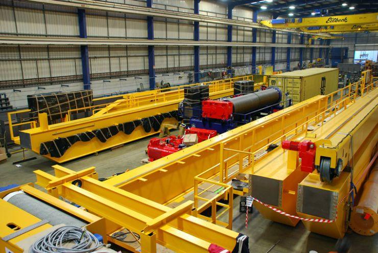 manufacturing double girder overhead cranes